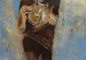 貝をもつ少年 (油彩 カンヴァス F3)