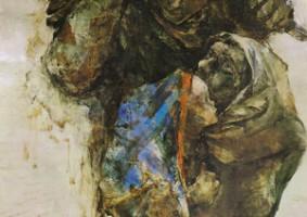 海の家族 (1981 油彩 カンヴァス 20F)