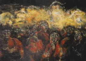 祭り (1976 油彩 カンヴァス 60F)