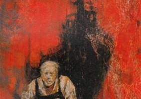船を焼く (2002 油彩 カンヴァス 50F)